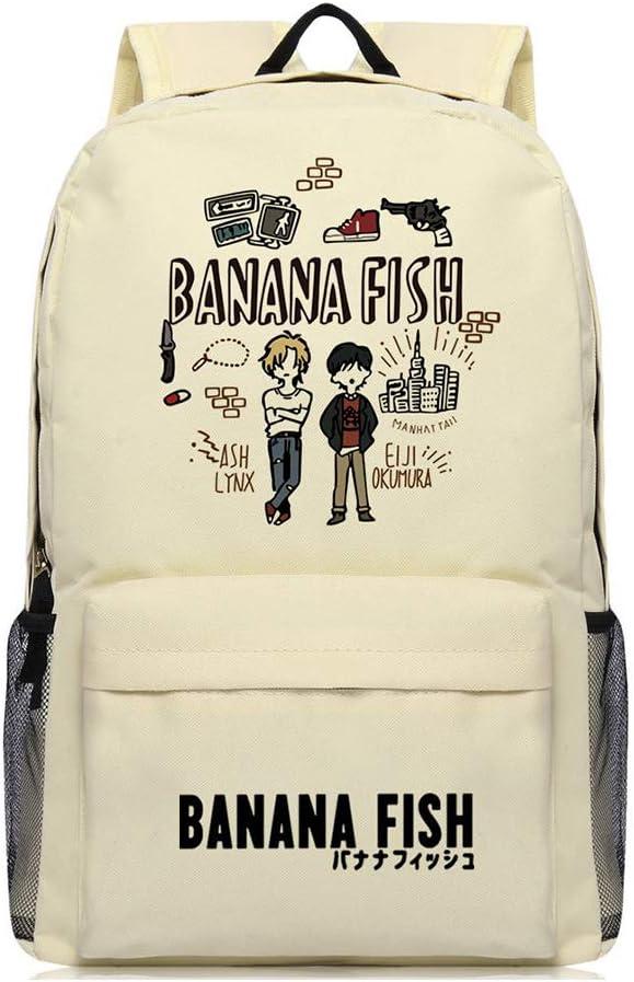Banana Fish Okumura Virginia Beach Mall Eiji Anime Canvas Lynx Travel Ash Fashionable Backpack B