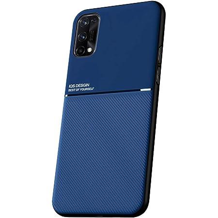 SHUNDA Funda para Realme 7 Pro, Ultra Delgada Silicona Suave TPU Bumper Antichoque Funda para Realme 7 Pro (6.4 Pulgada) Azul