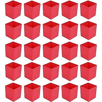 Einsatzkasten rot L54xB54xH63mm für Sortimentskästen PS 25 Stück