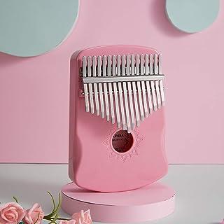 $26 » Alician 17 Keys Crystal Transparent Kalimba Instrument Thumb Piano Kalimba Finger Piano Golden Pink