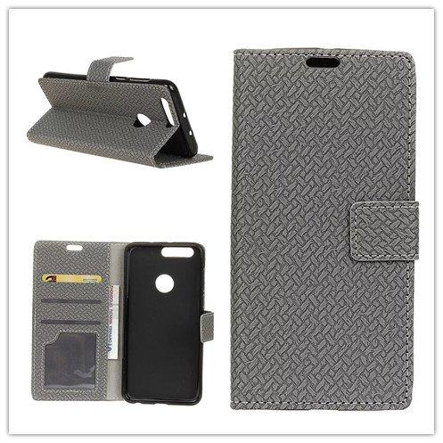 Funda® Flip Portefeuille Coque pour ASUS ZenFone Max Plus(M1)(ZB570TL) (Gris)