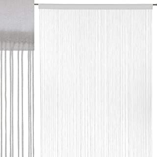 Cortina de Hilos Blanca clásica de poliéster de 250x140 cm - LOLAhome