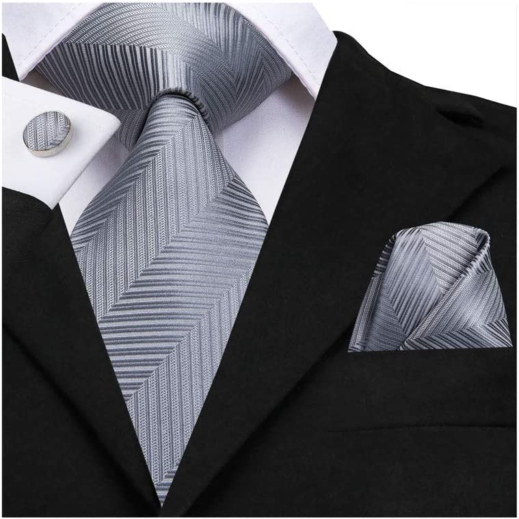 SPNEC LQGSYT Gift Mens Necktie Silk Wedding Tie for Men Hanky Cufflink Set Fashion (Color : A)