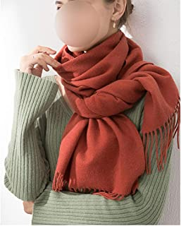 YANGBM Wool Scarf Female Skin is Not Stimulating Long Thick Versatile Warm Shawl Dual-use for Outdoor (Color : E)