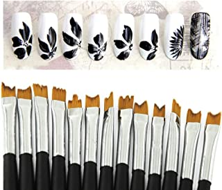 KADS 13pcs/set Fibre Nail Manicure Flower Brush for Nail Salons and Household Manicure Tools