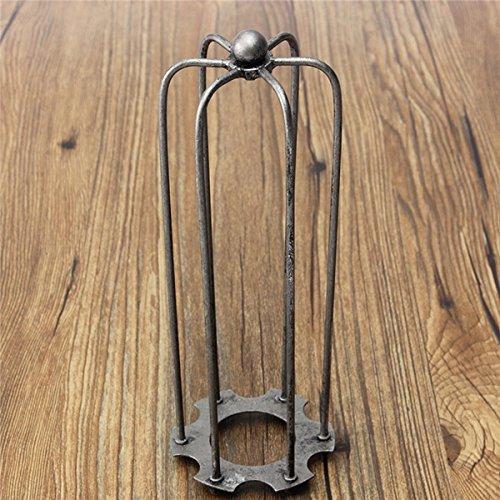 MASUNN 230mm DIY Vintage Pendentif Trouble Ampoule Garde-Fil Cage Plafond Suspendu Abat-Jour-Gris