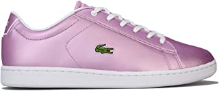 Lacoste Junior Girls Carnaby Evo Trainers Sneakers in Lilac.