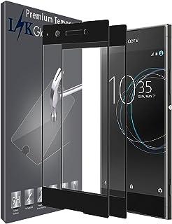 LK [2 Pack] Protector de Pantalla para Sony Xperia XA1 [Cobertura Completa] Vidrio Templado Screen Protector - Negro