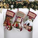 LEHONG Calza di Natale Set 3 Pezzi Calze Natale per Decorazione Natalizia 48 * 26cm...