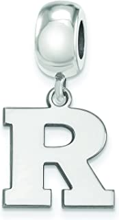 Dangle Wisconsin Bead Charm Extra Small 3//8 Inch Gold Plated