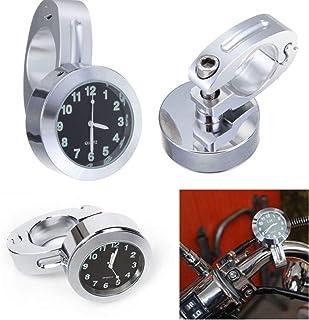Garneck Relógio de guidão de motocicleta, mini relógio de motocicleta, à prova d'água, 7/8, acessório de motocicleta para ...