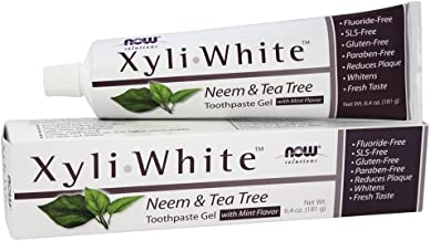 Xyliwhite Neem & Tea Tree Toothpaste, 6.4 Oz by Now Foods (Pack of 2)