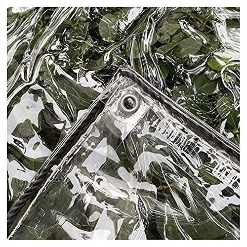 ZHANGQINGXIU Lonas Impermeables Exterior,Sábana De Lona Transparente Impermeable Con Ojales, Lona De PVC Resistente A La Intemperie Para Exteriores, Para Cubierta De Mesas Y Sillas De Patio, 14 Tamaño
