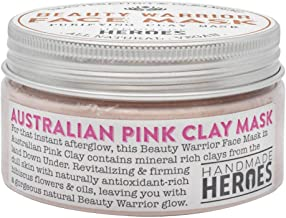 Australian Pink Clay Mask - All Natural And Vegan Pink Face Mask for Skin, Gentle and Cleansing Facial Treatment, for blac...