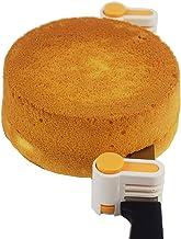 2PCS DIY Cake Slicer, Stratification Auxiliary, Bread Slice, Toast Cut, 5 Layers Leveler Slicer, Kitchen Fixator Tool (2, Orange)