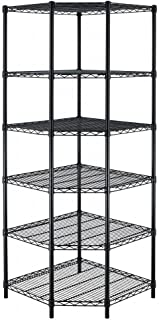 BestOffice New Heavy Duty Wire Steel 6-Tier Corner Shelf Garage Storage Shelving Rack C706