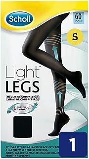 Scholl, Scholl Medias de Compresión Ligera Mujer Light Legs 60DEN, Color Negro, S