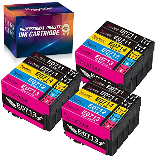 YINGCOLOR T0715 Multipack Ersatz für Epson T0711 T0712 T0713 T0714 T0715 Patrone Kompatibel für Epson Stylus Office BX300F SX400 SX200 SX100 SX218 SX215 BX610FW SX205 SX209 SX210 SX105