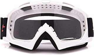 AMDXD TPU+PC Motorcycle Eyewear Helmet Goggles Eyewear Set Snowboard Goggles Bike Glasses Safety Goggles for Motorcycle Bike Helmet,Black Transparent