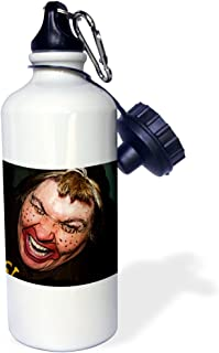 """3dRose wb_49539_1""""Lady Dressed Up Like Ugly Clown for Halloween With Her Face Very Animated, Silly and Scary"""" Sports Water..."""
