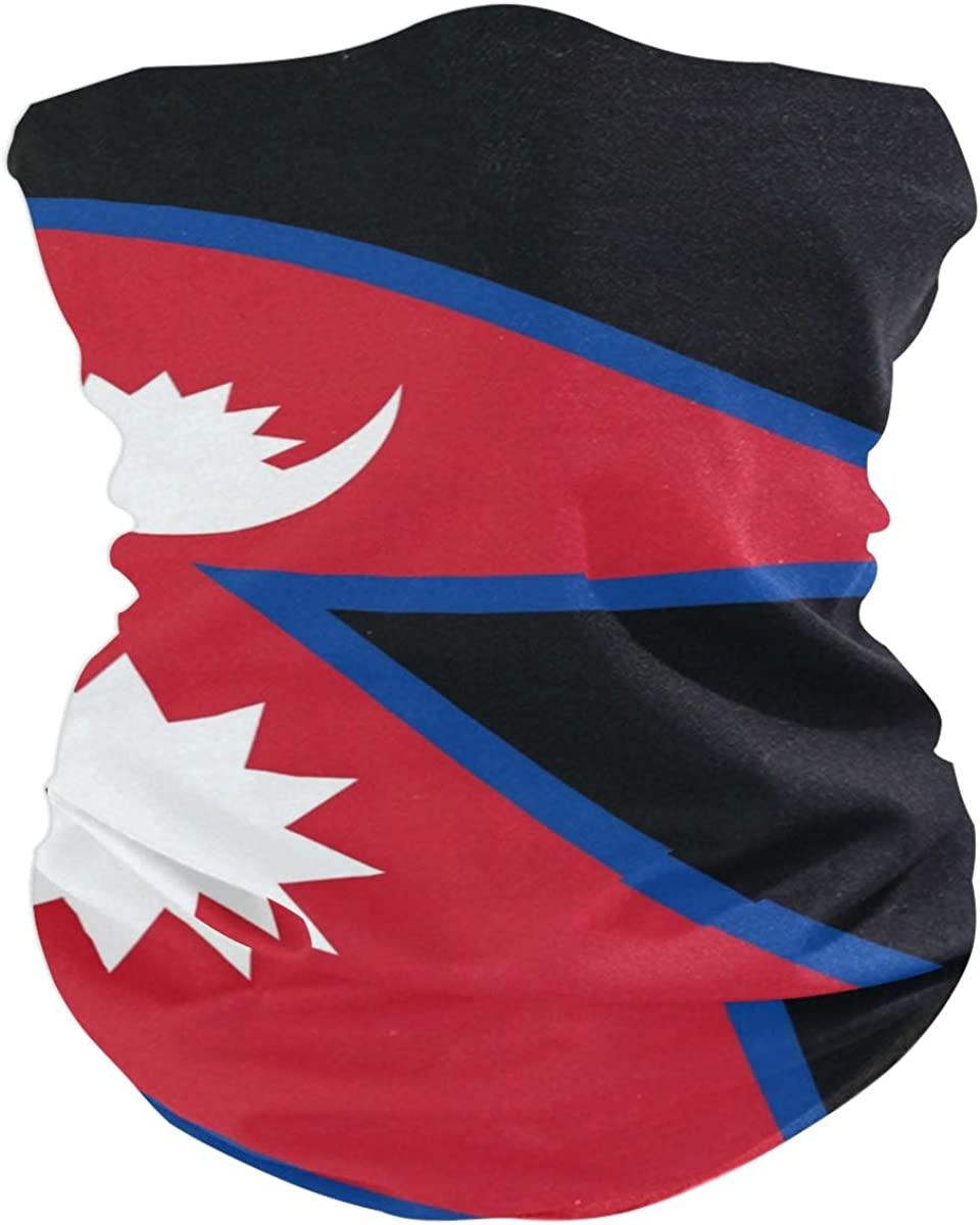 Max 83% OFF Neck Gaiter Tube Mask Nepal Bandana Headband for At the price of surprise Flag Face