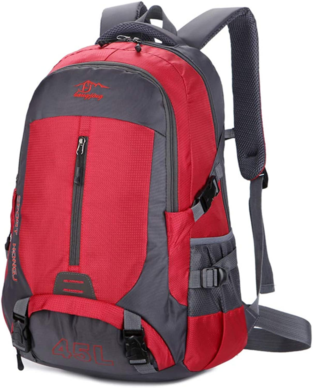 Hiking Backpack Breathable Lightweight Waterproof Portable Multifunction 45L Nylon