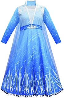 Girls Princess Costume Sequined Elsa Party Dress UP