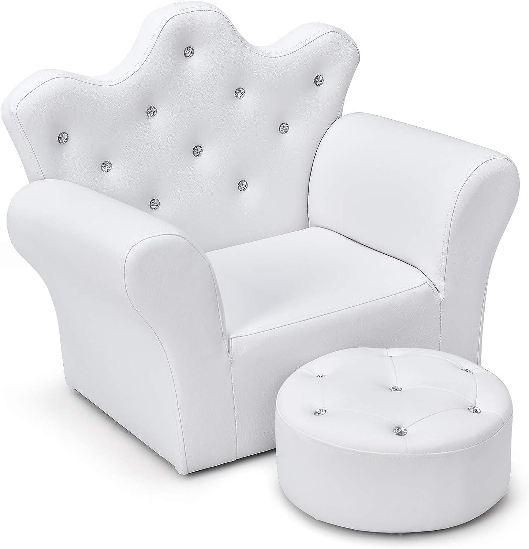 Costzon Kids Sofa Children New life Ottoman Upholstered 2021 Princ with