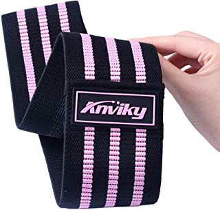 ANKIVY Booty Bands Fabric Resistance Bands for Legs and Butt Exercise Elastic Hip Bands 2019 Upgraded (Stripe-Purple)