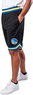 UNK NBA Men's GSM3547F NBA Woven Team Logo Poly Mesh Basketball Shorts, Black, Medium