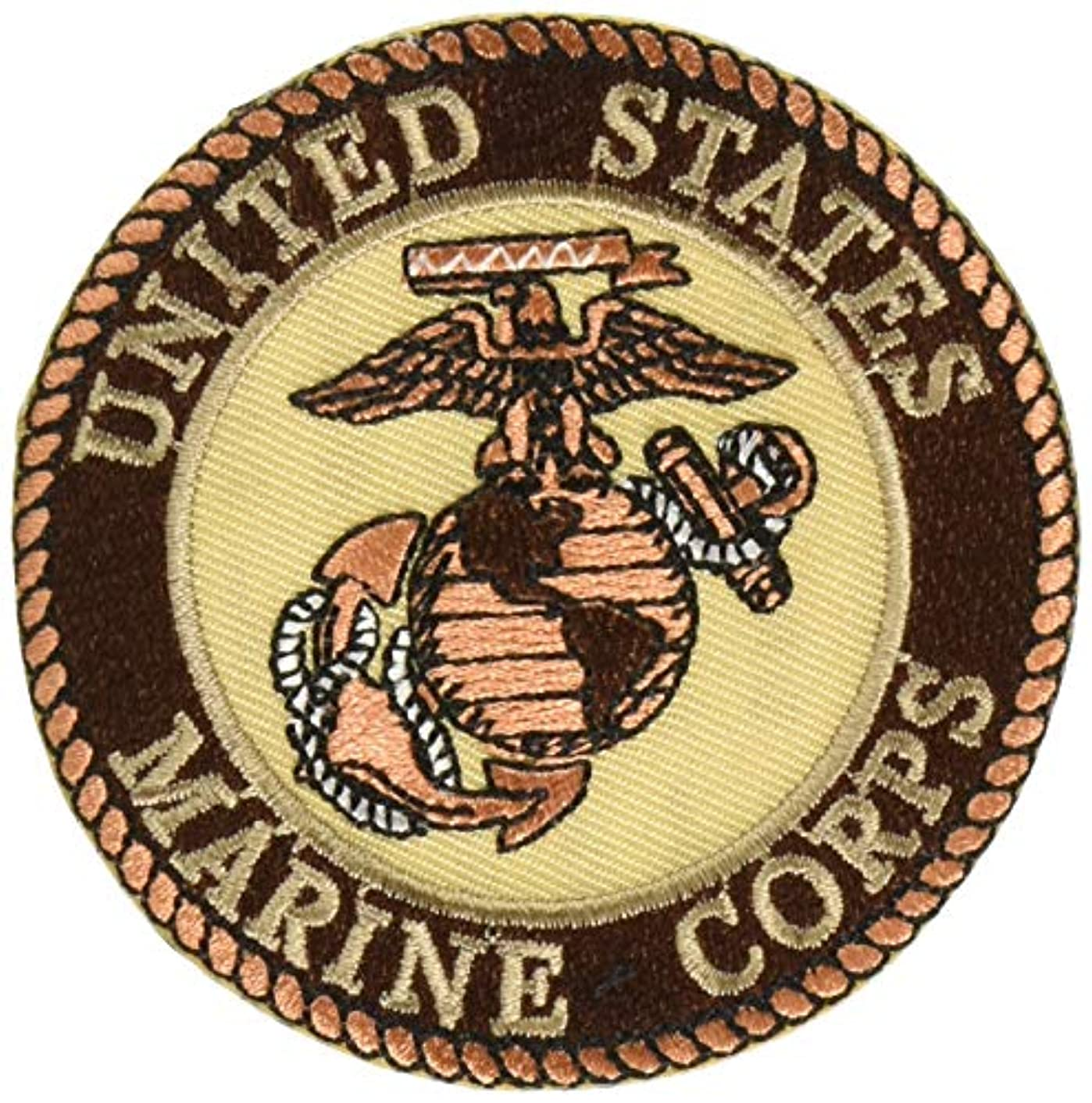 EagleEmblems PM0893 Patch-USMC Logo (03D) (Desert) (3'')