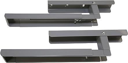 4YourHome montaje en pared soporte para microondas brazos, plateado, unidades 2
