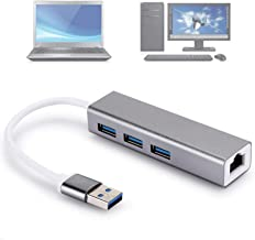 Ethernet Adapter Practical USB3.0 100M Stable Aluminium Alloy Wired Durable No External Power Supply Reliable for Keyboard