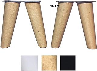 patas para muebles de madera. Patas inclinadas cónicas con
