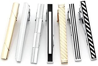 5-10pcs Set Stainless Steel Exquisite GQ Classic Tie Bar Clip, 2.3 Inches