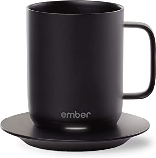 Ember Temperature Control Smart Mug, 10 oz, 1-hr Battery Life, Black - App Controlled Heated Coffee Mug