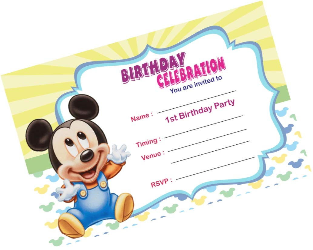 partystuff mickey mouse theme cards