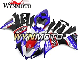 WYNMOTO ABS Plastic Injection Mold Full Fairing Kit Cowlings For Yamaha R1 YZF-R1 2012 2013 2014 Purple Black Red Pattern Bodywork