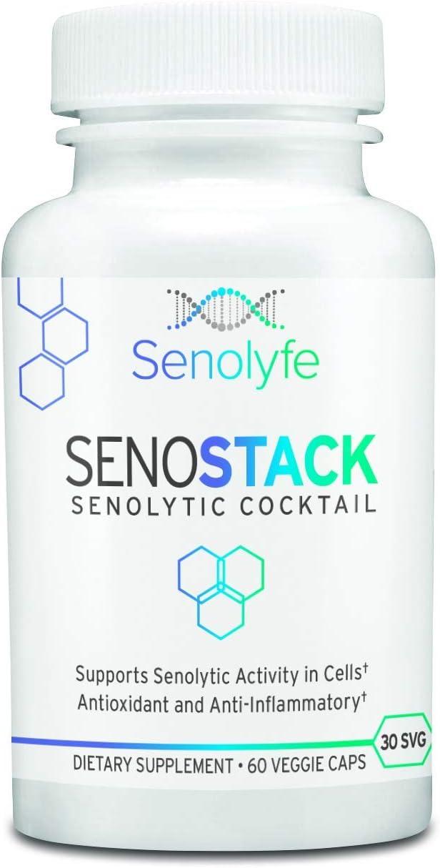 SenoStack Senolytic Flavonoid Cocktail Fees Ranking TOP15 free Curcumin - Fisetin