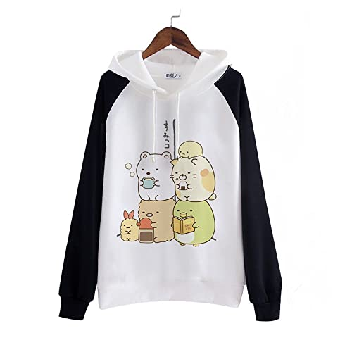 95f0c4390e5 packitcute Kawaii Cartoon Cotton Fleece Hoodie for Women