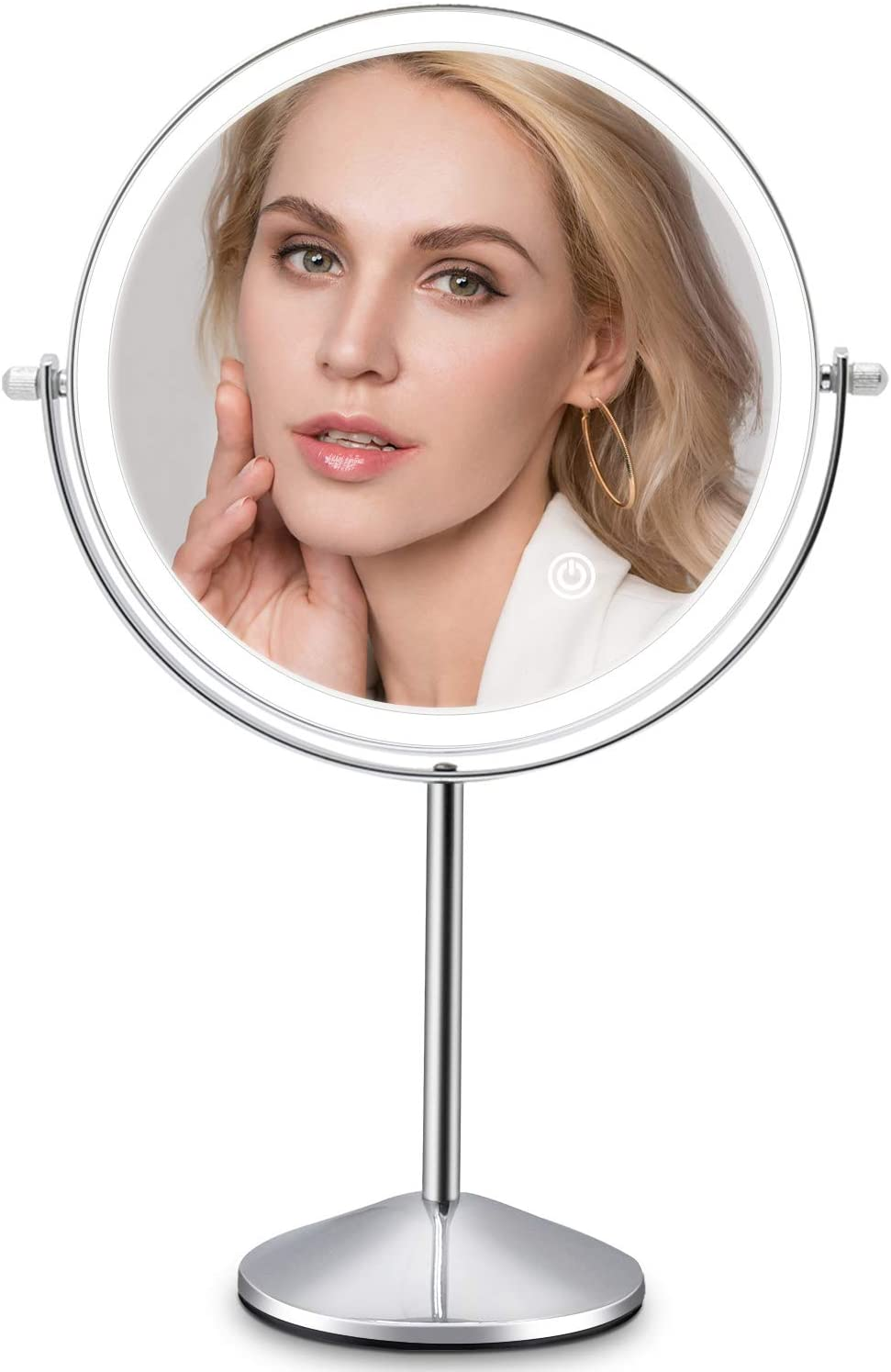 Rechargeable Lighted Makeup Vanity Mirror 8 Dedication Double Sided Inch L Excellent