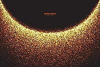 MARYSHARONゴージャスな金色の粒子背景布パーティーお祝い写真背景布装飾小道具高精細印刷写真布CF122170x240cm