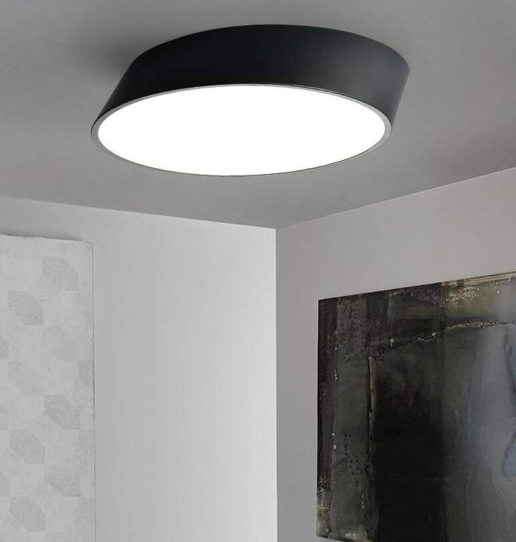 DEED Deckenleuchte-einfache Moderne LED-Decke Nordic abgeschrgten runden Wohnzimmer Schlafzimmer kreative Persnlichkeit Decke -Home warme Deckenleuchte,Schwarz-25CM