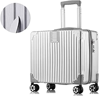 XMlgxzy 18-Inch Carry-On Lightweight Durable Hardshell 4-Wheel Spinner Cabin Luggage ABS+PC TSA Lock, 40x39x23cm