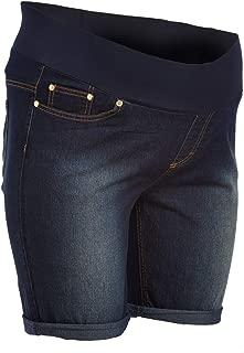 Sass & Sassy Women's Plus Size Pull on Comfort Denim Bermuda Shorts