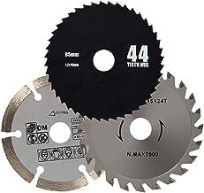 Conjunto de herramientas portátiles Herramientas de hardware Hoja de sierra multifunción 3 piezas Herramienta de corte multifuncional Pieza de corte de acero de alta velocidad Accesorios para herramie