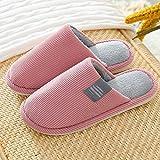 ypyrhh de casa Suaves y cómodas Zapatillas,Couple Warm Cotton Slippers, Indoor Non-Slip Slippers-Pink_38-39