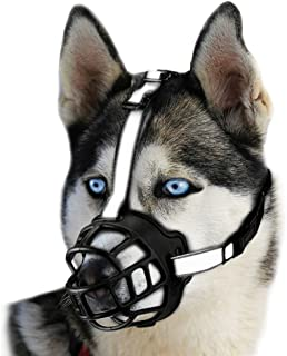 duobing Dog Muzzle,Soft Basket Silicone Muzzles for Dog, Dog Muzzle Basket for Small, Medium and Large Dogs, Best to Prevent Biting, Chewing and Barking, Allows Drinking and Panting.