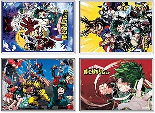 Gyjb-jihu - Poster con animazione e animazione, 4 poster My Hero Academia, decorazione da parete