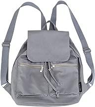 حقيبة ظهر مدرسية Amshine College - حقيبة كتف نسائية صغيرة من القماش الكتاني وحقيبة كتف خفيفة الوزن ذات سعة كبيرة لحقيبة السفر متعددة الجيوب